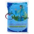 Дождевик ПНД 70*118 голубой с застежками, капюшоном, рукавами